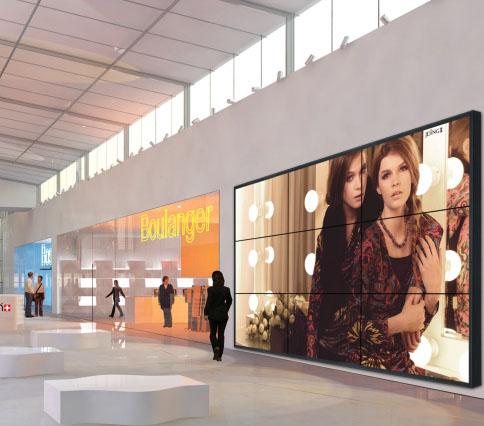 Video Wall en un centro comercial