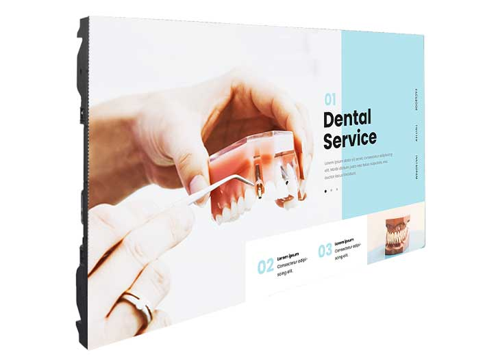 Pantallas LED exterior para clinicas dental
