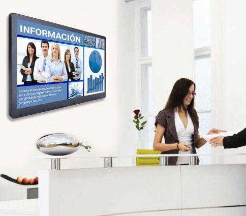 Monitor en un mostrador de información