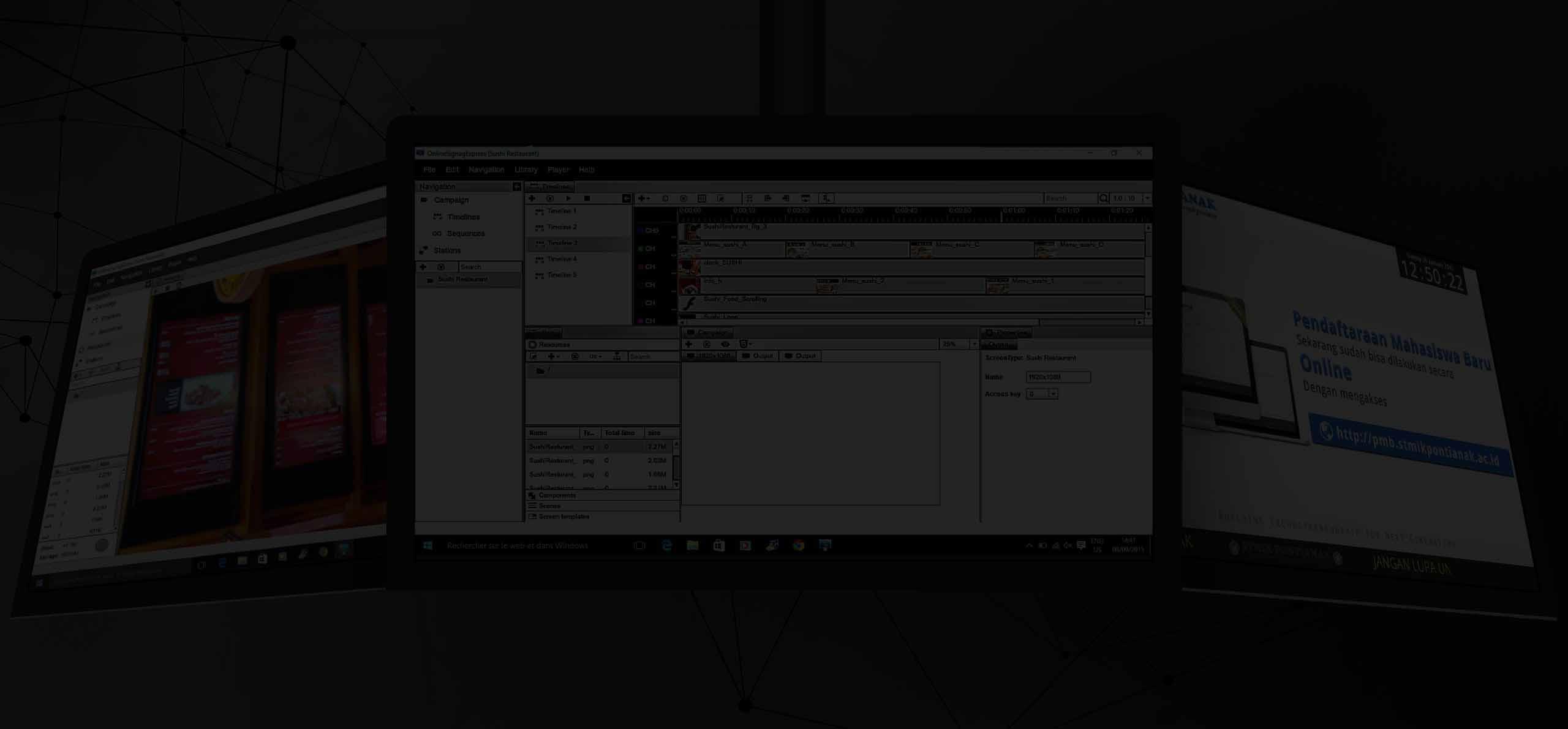 programa de gestión de contenidos para pantallas led y monitores profesionales