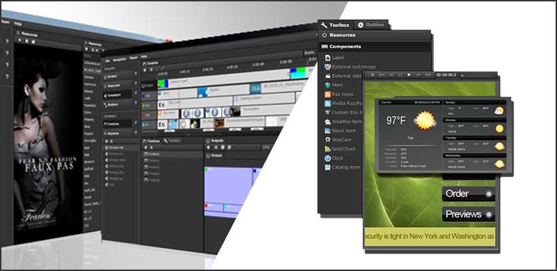 Software para la gestión de contenidos para pantallas