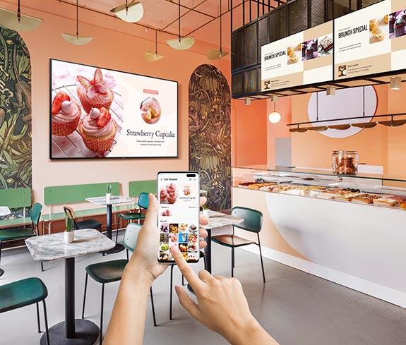 Carteleria digital en restaurantes