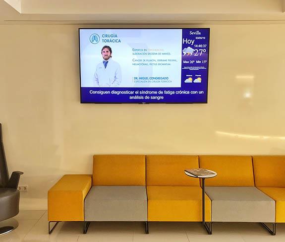 carteleria digital en clinica
