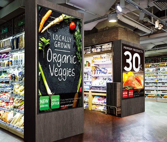 carteleria digital supermercado