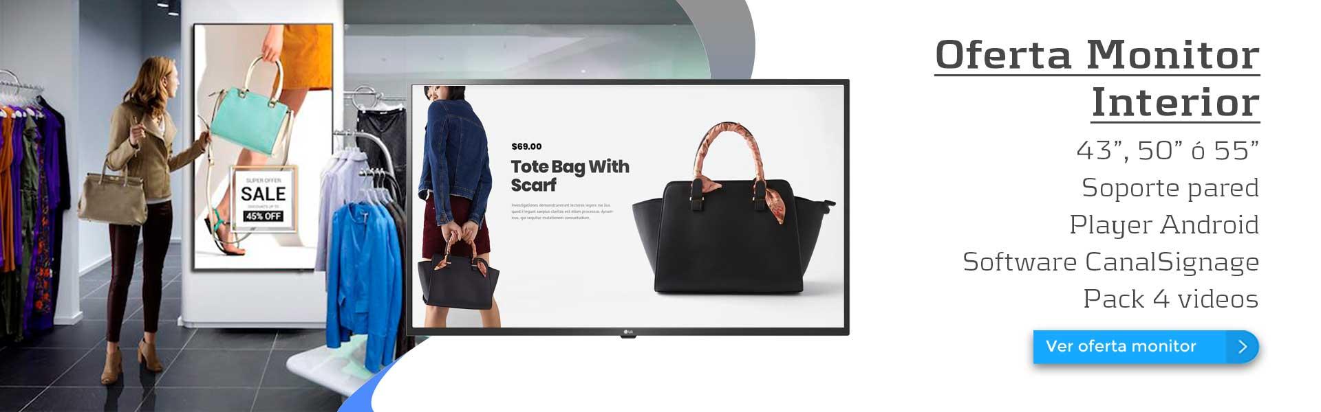 Oferta monitor para interior LG